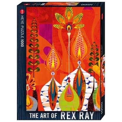 Пъзел Heye от 1000 части - Живи свещи, Рекс Рей - Пъзели