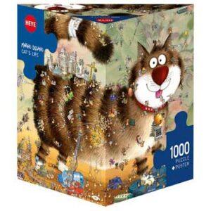 Пъзел Heye от 1000 части - Животът на котката, Марино Дегано - Пъзели