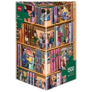 Пъзел Heye от 1500 части - Книги, Игор Краварик - Пъзели
