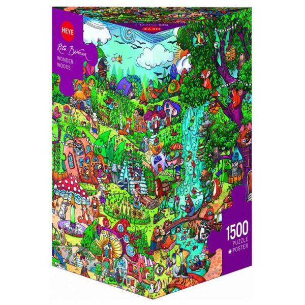 Пъзел Heye от 1500 части - Приказен лес, Рита Берман - Пъзели