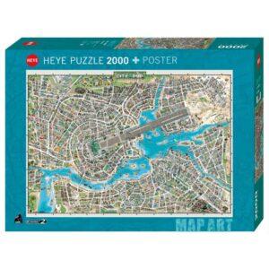 Пъзел Heye от 2000 части - Градът на поп музиката - Пъзели