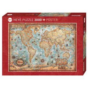 Пъзел Heye от 3000 части - Светът, Райко Жигич - Пъзели