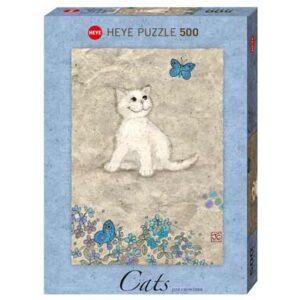 Пъзел Heye от 500 части - Бяло котенце, Джейн Краутър - Пъзели