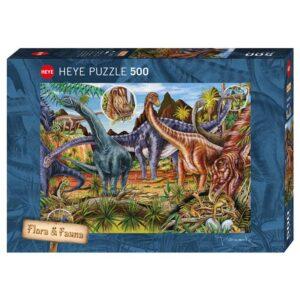 Пъзел Heye от 500 части - Тревопасни животни, Марион Вичорек - Пъзели