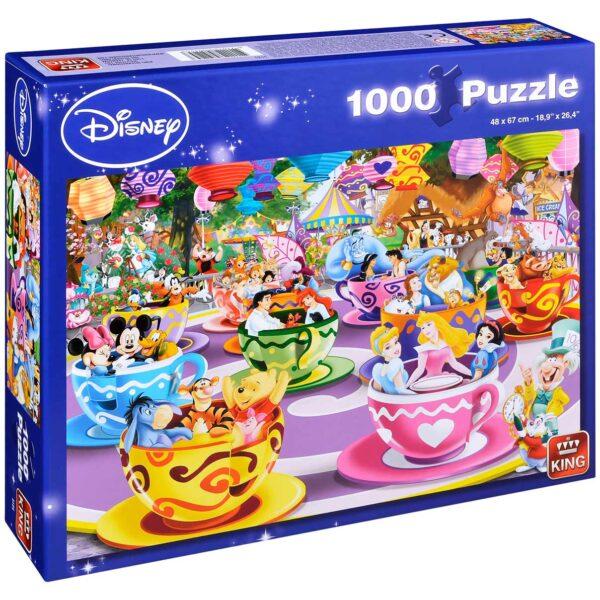Пъзел King от 1000 части - Светът на Дисни, Въртележка с щури чашки - Пъзели