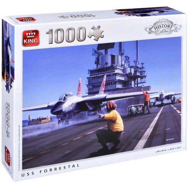 Пъзел King от 1000 части - USS Forrestal, Айвън Бериман - Пъзели