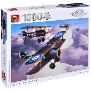 Пъзел King от 1000 части - Военни самолети, Айвън Бериман - Пъзели