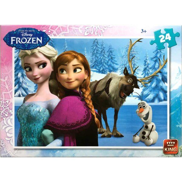 Пъзел King от 24 части - Замръзналото кралство, Анна, Елза, Свен и Олаф - Frozen - Пъзели