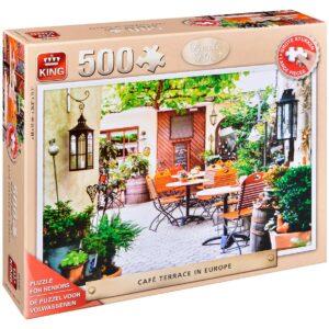 Пъзел King от 500 XXL части - Европейско кафене с тераса - Пъзели