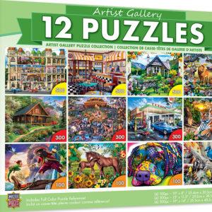 Пъзел Master Pieces 12 в 1 - Животни и пейзажи - Пъзели