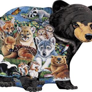 Пъзел Master Pieces от 100 части - Горски животни - Пъзели