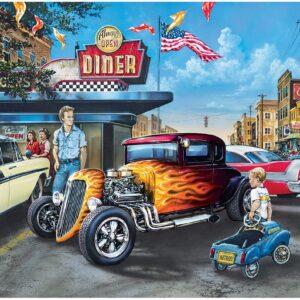 Пъзел Master Pieces от 1000 части - Автомобили и млечен шейк, Дан Хатала - Пъзели