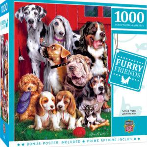 Пъзел Master Pieces от 1000 части - Бандата на кучетата - Пъзели