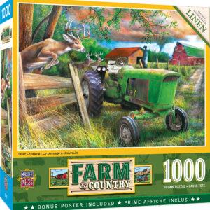 Пъзел Master Pieces от 1000 части - Еленът и фермата - Пъзели