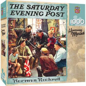 Пъзел Master Pieces от 1000 части - Пехотинците се прибират у дома, Норман Рокуел - Пъзели