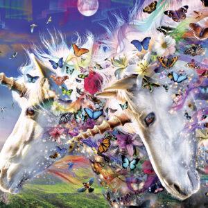 Пъзел Master Pieces от 300 XXL части - Еднорози и пеперуди - Пъзели