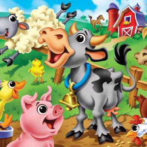 Пъзел Master Pieces от 48 XXL части - Животните във фермата - Пъзели