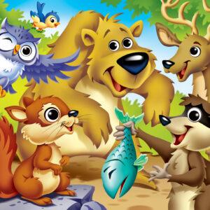 Пъзел Master Pieces от 48 XXL части - Сладки горски животинки - Пъзели