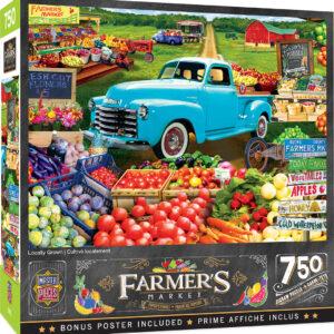 Пъзел Master Pieces от 750 части - Пазар за плодове и зеленчуци - Пъзели