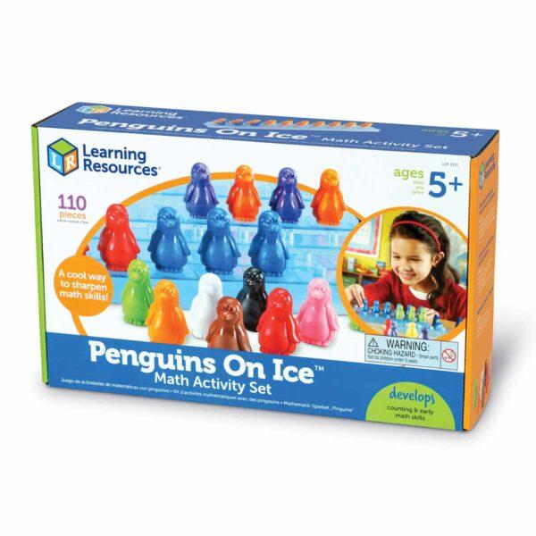 Пингвини върху лед - математическа игра - Детски играчки - STEM Играчки