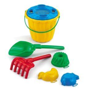 "Плажен сет за игра ""Кая"" с голяма лопатка - Детски играчки - Играчки за пясък"