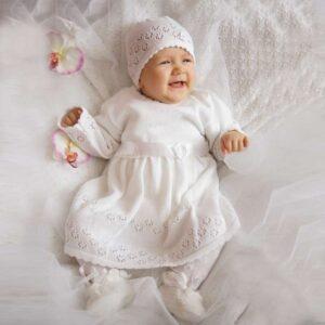 Плетен комплект за момиче - За бебето - Аксесоари за детска стая - Дрешки за специални случаи