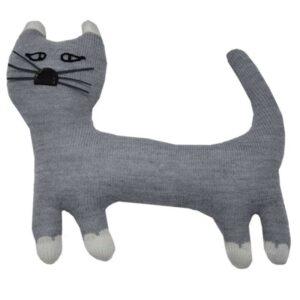Плетена бебешка играчка Котка - За бебето - Аксесоари за детска стая - Плетени играчки за гушкане