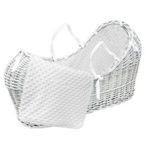 Плетено бебешко кошче - бяло - За бебето - Плетени кошчета за бебе
