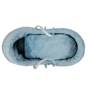Плетено кошче за бебе със син спален комплект - За бебето - Плетени кошчета за бебе