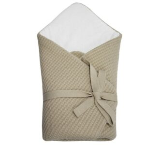 Плетено одеяло за бебета бежово - За бебето - Аксесоари за детска стая - Завивки / Одеяла