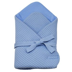 Плетено одеяло за бебета синьо - За бебето - Аксесоари за детска стая - Завивки / Одеяла