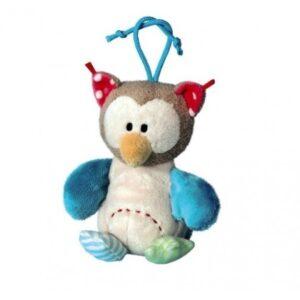 Плюшен бухал с връвка 15 см - Детски играчки - Плюшени играчки