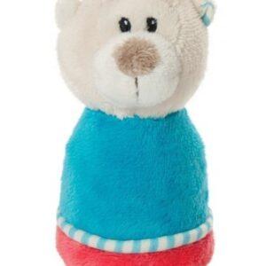 Плюшена бебешка дрънкалка - Мече - Детски играчки - Плюшени играчки