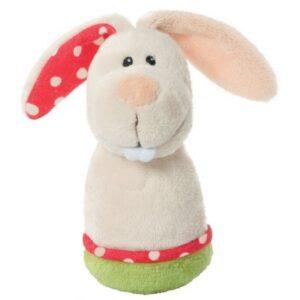 Плюшена бебешка дрънкалка - Зайче - Детски играчки - Плюшени играчки