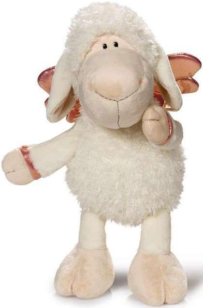 Плюшена играчка овцата Jolly - Don't worry be happy - Бяла 45 см - Детски играчки - Плюшени играчки