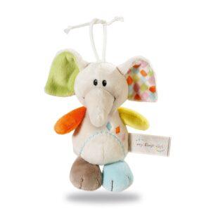 Плюшена играчка за количка - Слонче - Детски играчки - Плюшени играчки