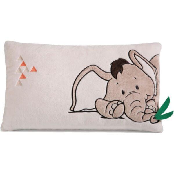 Плюшена възглавничка за гушкане - Слонче - За бебето - Аксесоари за детска стая - Декоративни и детски възглавници - За детето - Аксесоари и текстил за детска стая