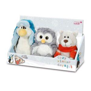 Плюшени играчки - Пингвин, Мече и Бухал - Детски играчки - Плюшени играчки