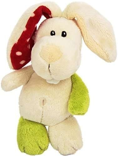Плюшено зайче с връвка, 15см - Детски играчки - Плюшени играчки
