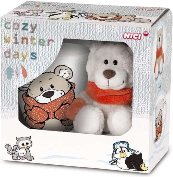 Подаръчен комплект - мече Беартур с чаша - Детски играчки - Плюшени играчки