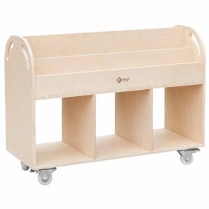 Подвижен скрин за съхранение на детски книжки - Мебели и играчки за детски градини и центрове - Мебели за детски градини и центрове