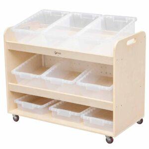 Подвижен скрин за съхранение на играчки - Мебели и играчки за детски градини и центрове - Мебели за детски градини и центрове