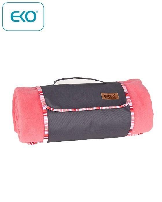 Поларено одеяло за пикник, розово - За бебето - Аксесоари за детска стая - Завивки / Одеяла
