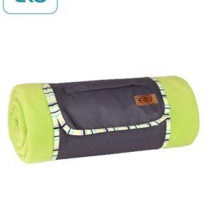 Поларено одеяло за пикник, зелено - За бебето - Аксесоари за детска стая - Завивки / Одеяла