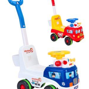 Полицейска четириколка с родителски контрол - Играчки за навън - Детски триколки и четириколки