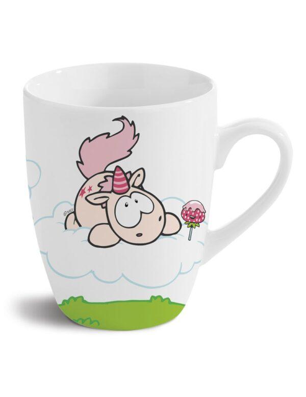 Порцеланова чаша Еднорогът Theodor, бяла - Детски чаши - За детето - Детски прибори за хранене