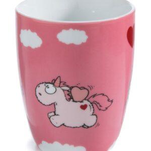 Порцеланова чаша розова с Еднорогът Theodor - Детски чаши - За детето - Детски прибори за хранене
