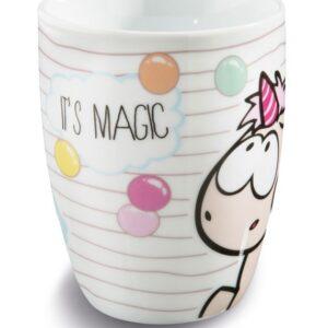 Порцеланова чаша с еднорог и надпис - Детски чаши - За детето - Детски прибори за хранене