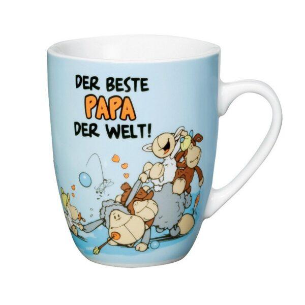 """Порцеланова чаша с надпис """"DER BESTE PAPA DER WELT"""" - Детски чаши - За детето - Детски прибори за хранене"""