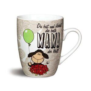 """Порцеланова чаша с надпис """"Du bist und bleibt die beste MAMA der Welt!"""" - Детски чаши - За детето - Детски прибори за хранене"""